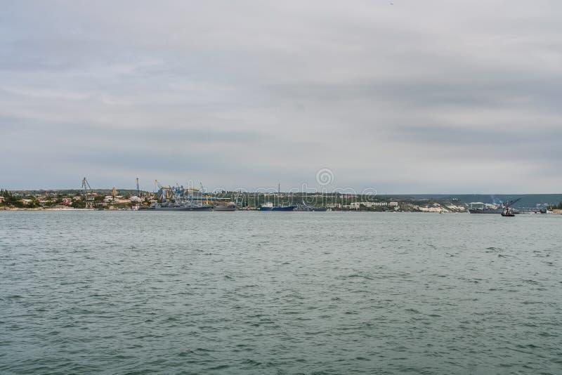 Le navi della marina ucraina fotografia stock libera da diritti