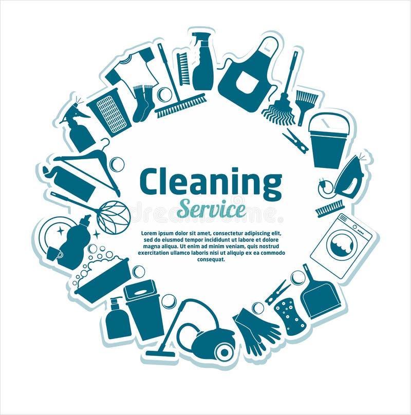 Le nettoyage entretient l'illustration de vecteur illustration libre de droits