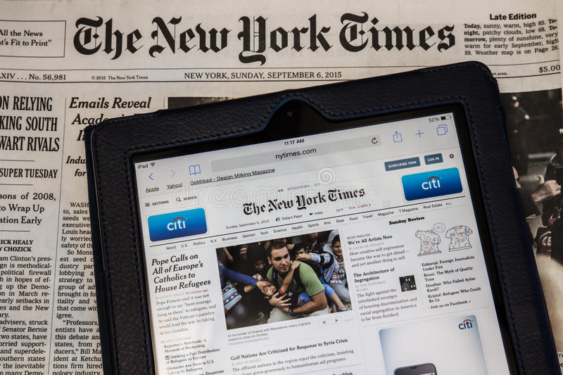 Le New York Times images stock