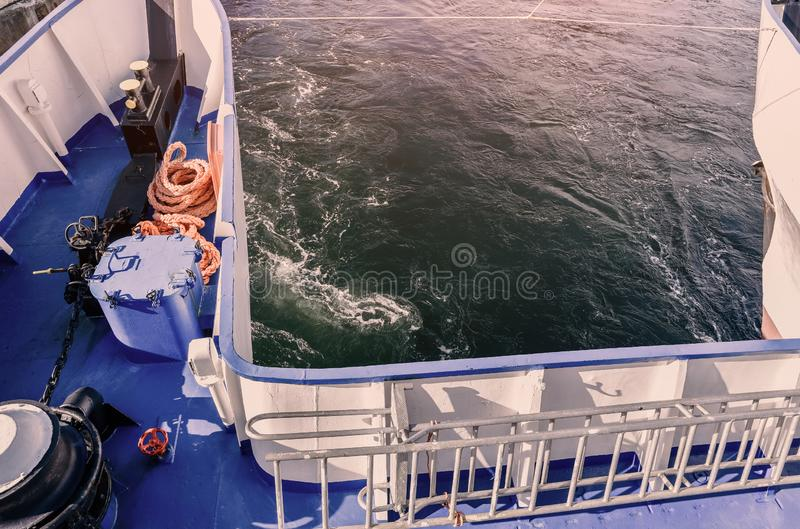 Le nez du bateau, catamaran photos stock