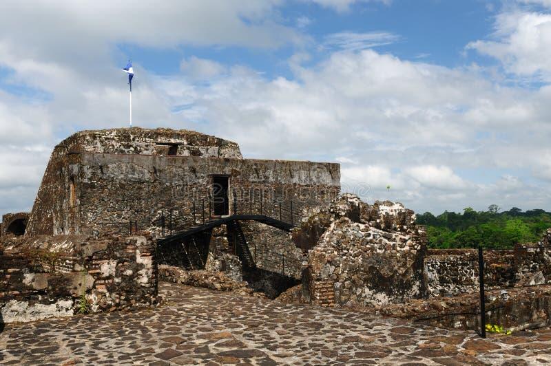 Le Nicaragua, château enrichi dans El Castillo images libres de droits