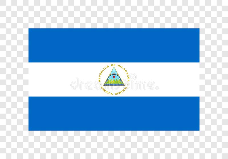 Le Nicaragua - drapeau national illustration libre de droits