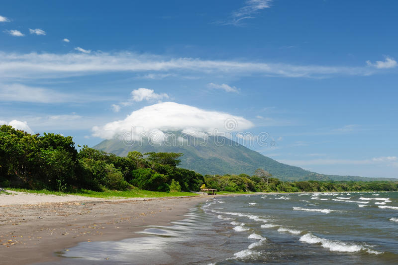 Le Nicaragua, horizontaux sur une île d'Ometepe photos libres de droits