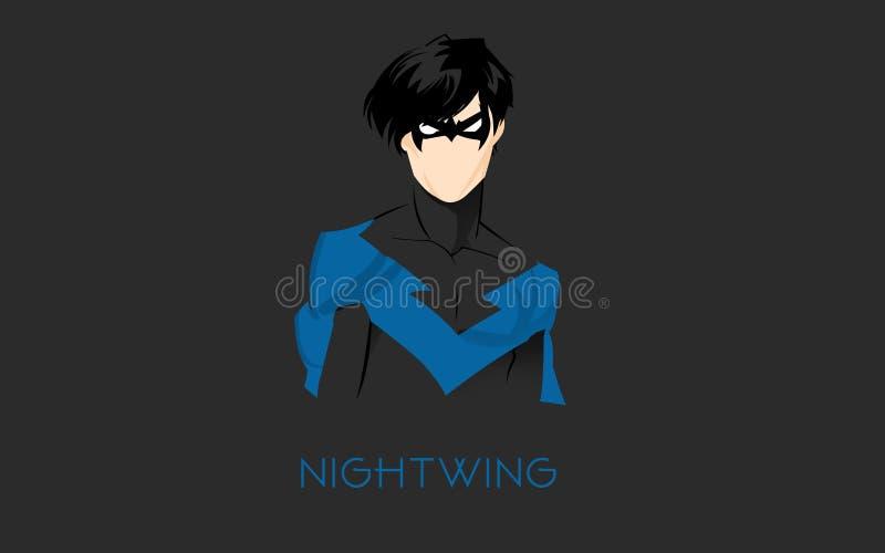 Le Nighwing illustration libre de droits