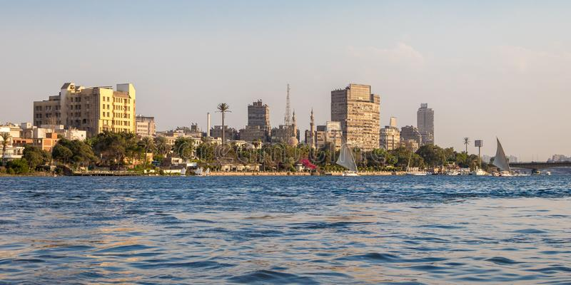 Le Nil au coeur du Caire, Egypte photo stock