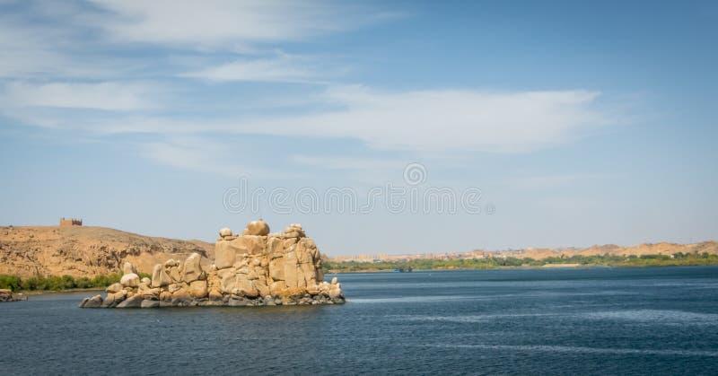 Le Nil du temple de Philae image libre de droits