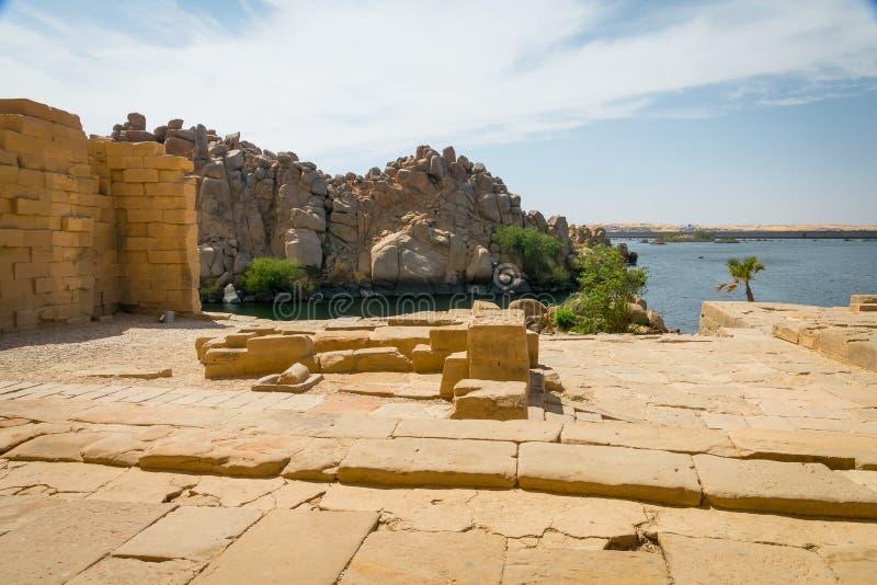 Le Nil du temple de Philae photo stock