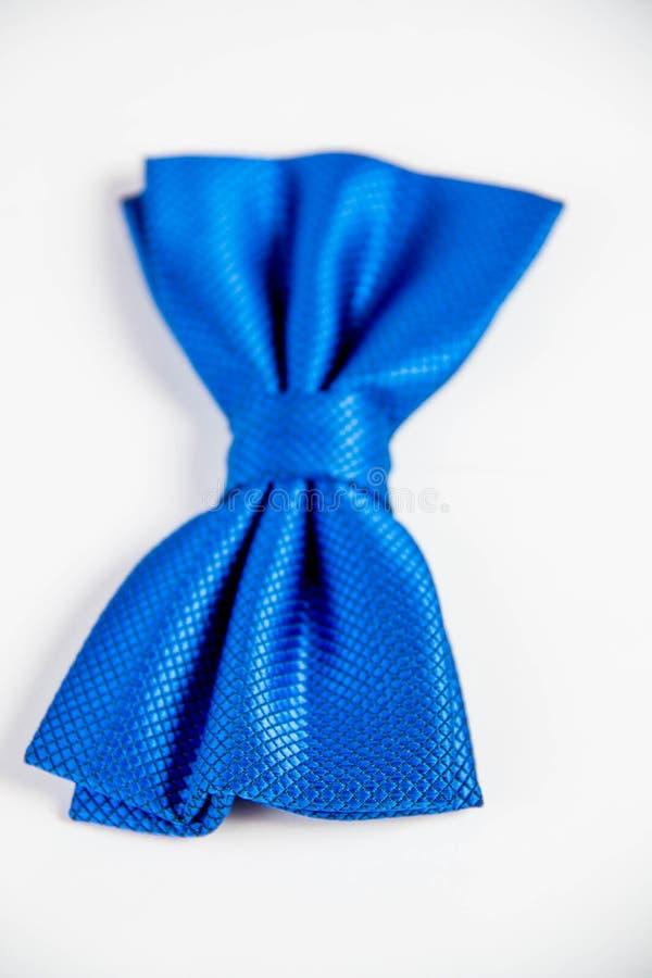 Le noeud papillon bleu de petit garçon Image d'isolement sur le backg blanc de studio photographie stock
