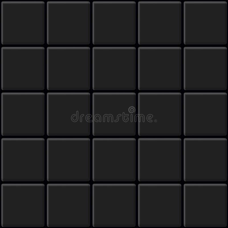 Le noir couvre de tuiles la texture sans couture Fond abstrait de vecteur illustration stock