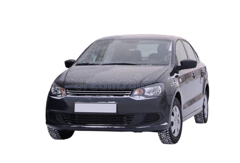 le noir de volkswagen polo de voiture sur un fond blanc image stock image du fond utilitaire. Black Bedroom Furniture Sets. Home Design Ideas