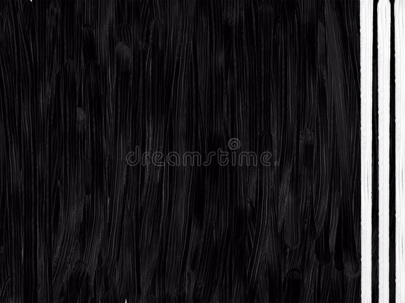 Le noir a donné au fond une consistance rugueuse abstrait acrylique avec les lignes verticales blanches image libre de droits