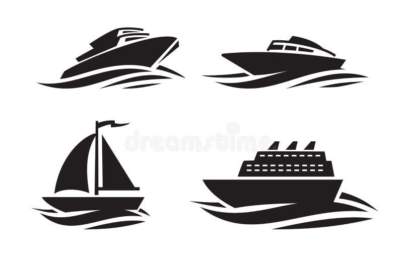 Le noir embarque des icônes illustration libre de droits
