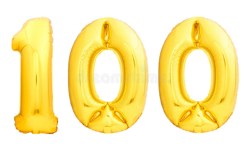 Le nombre d'or 100 cent a fait du ballon gonflable images stock