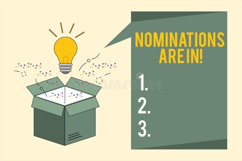 Le nomine del testo di scrittura di parola sono dentro Concetto di affari per formalmente la scelta del qualcuno candidato uffici illustrazione vettoriale