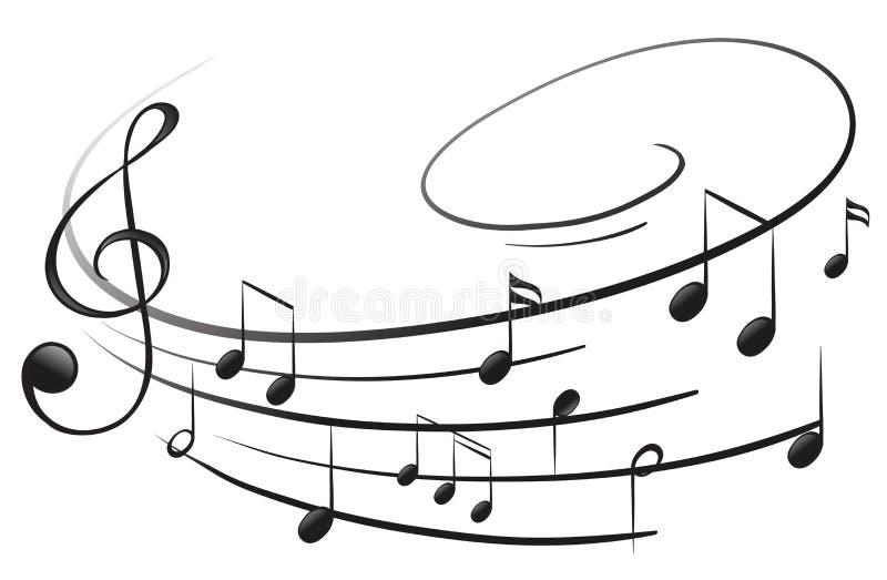 Le note musicali con la G-chiave royalty illustrazione gratis