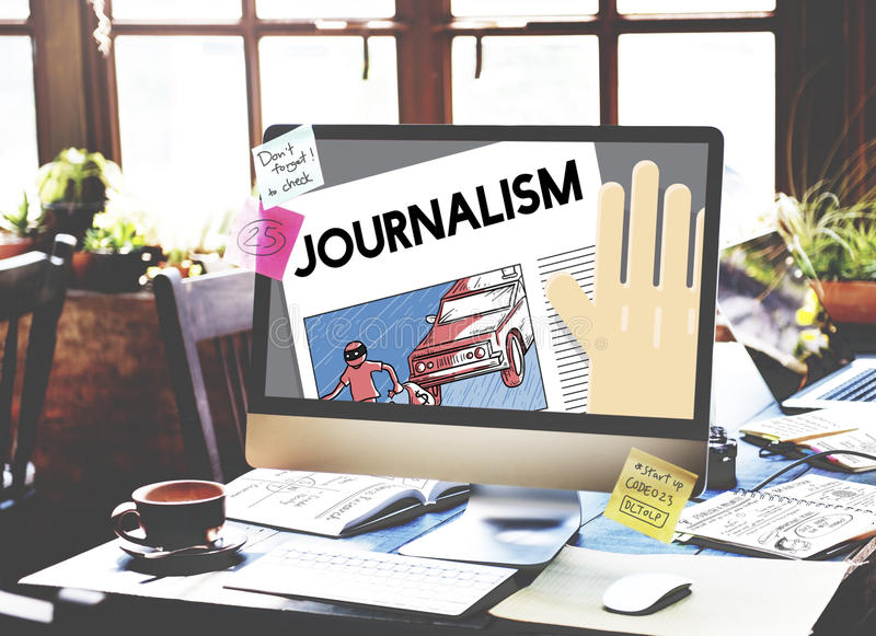 Le notizie di intervista dell'articolo di giornalismo pubblicano il concetto di rapporto immagine stock libera da diritti