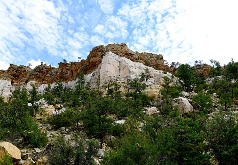 Le Nouveau Mexique, EL Malpais : Bluffs de grès du Dakota à la route 117 images libres de droits