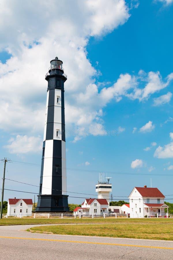 Le nouveau ` s de cap Henry Lighthouse et de gardien divise photo libre de droits