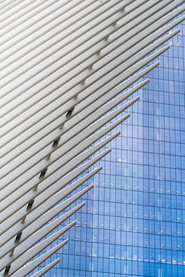 Le nouveaux transit et vente au détail de hub de transport de World Trade Center photos libres de droits