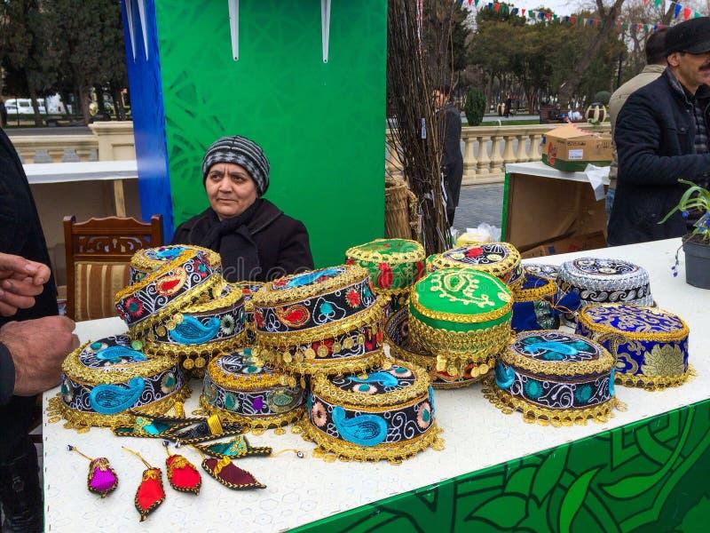Le Nowruz juste de fête vers Bakou, Azerbaïdjan photographie stock