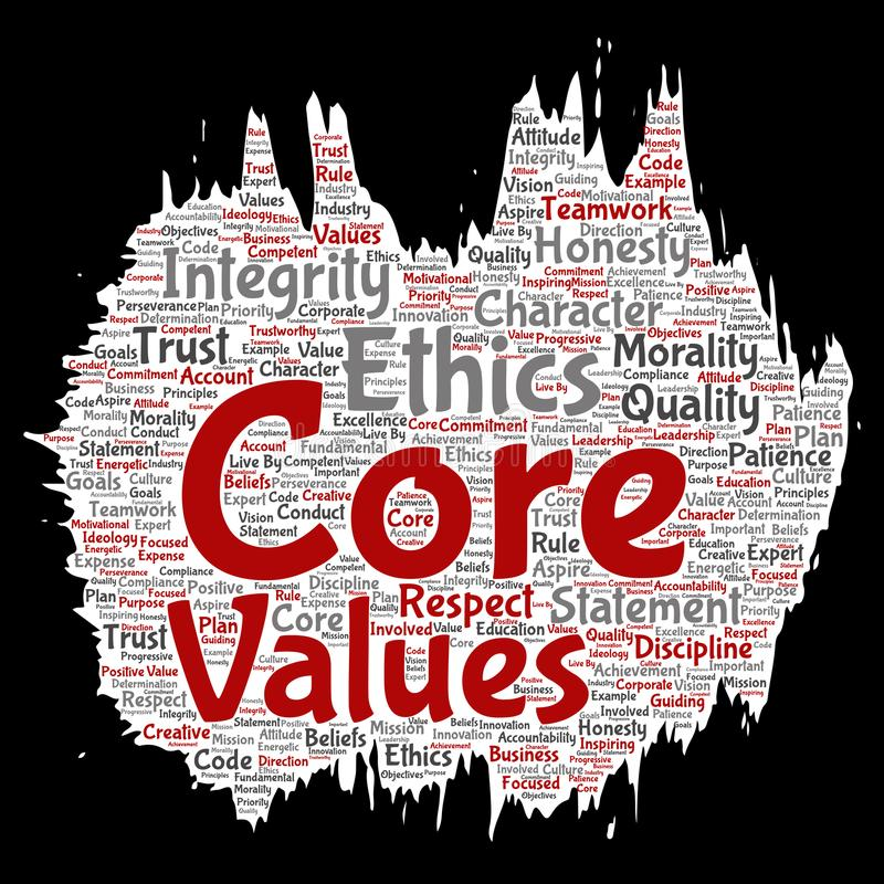 Le noyau de vecteur évalue le pinceau d'éthique d'intégrité illustration de vecteur