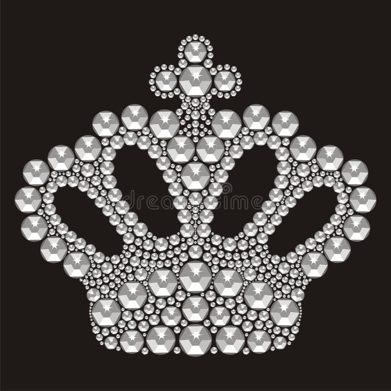 Le nozze delle donne della corona del diadema con i cristalli di rocca Sig.na Contest della corona royalty illustrazione gratis
