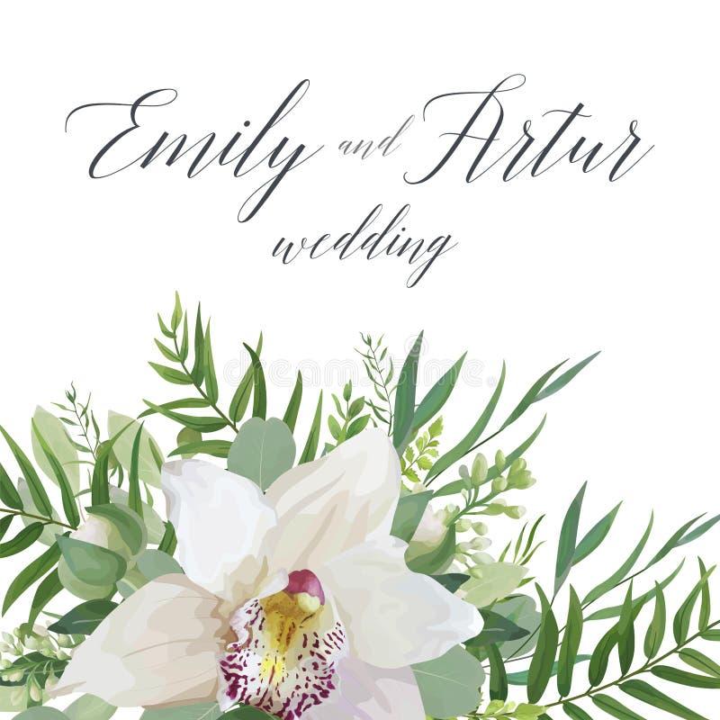 Le nozze invitano, conservano la progettazione delicata della carta di data con bianco o illustrazione vettoriale