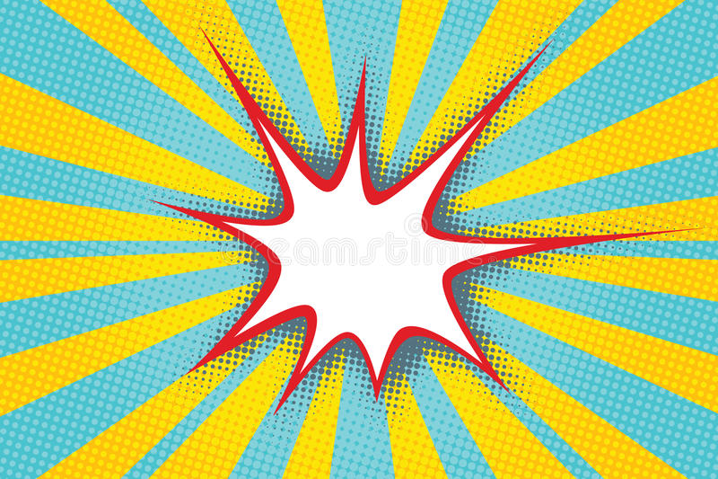 Le nuage comique pointu de bulle à l'arrière-plan de l'art de bruit rayonne illustration libre de droits