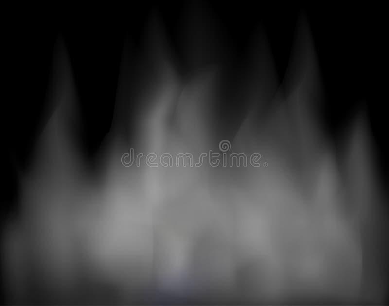 Le nuage et la composition abstraite en fumée copient l'ABS de milieux de l'espace illustration stock