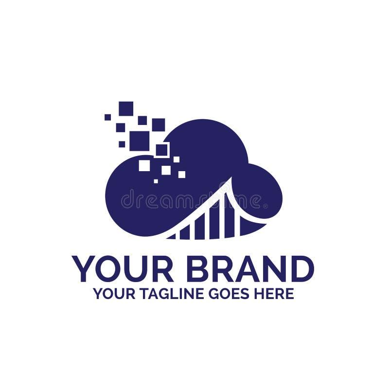 Le nuage investissent et logo graphique de technologie - vecteur photographie stock