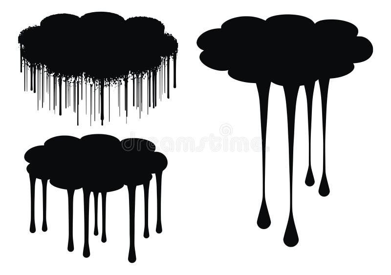 le nuage s'égoutte l'illustration de vecteur illustration de vecteur