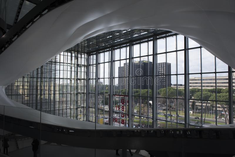 Le nuage, un nouveau centre de congrès à Rome, Italie images stock