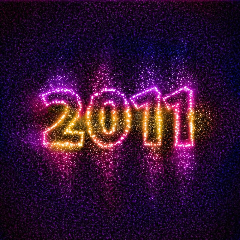 Le numéro 2011 a construit des étoiles illustration libre de droits