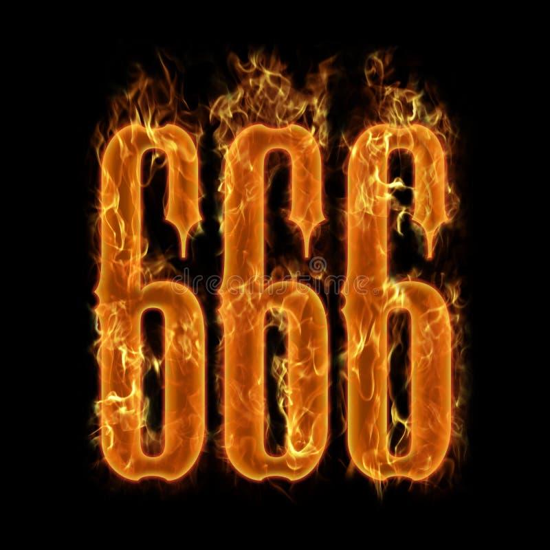 Le numéro 666 du diable illustration de vecteur