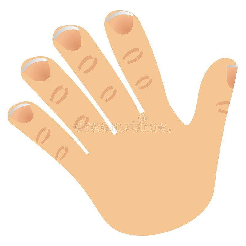 Le numéro cinq a effectué avec des doigts illustration libre de droits