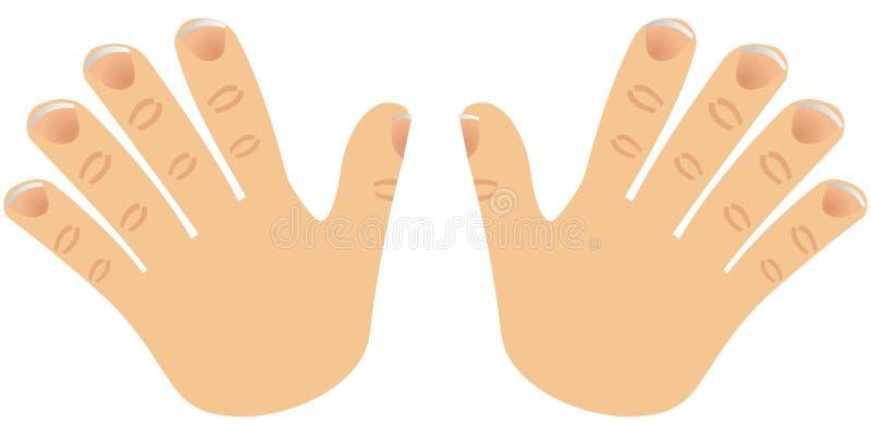 Le numéro dix a effectué avec des doigts illustration stock