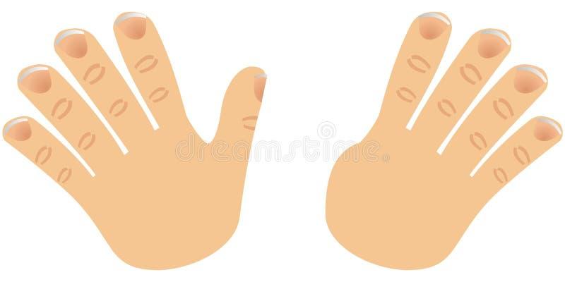 Le numéro neuf a effectué avec des doigts illustration libre de droits