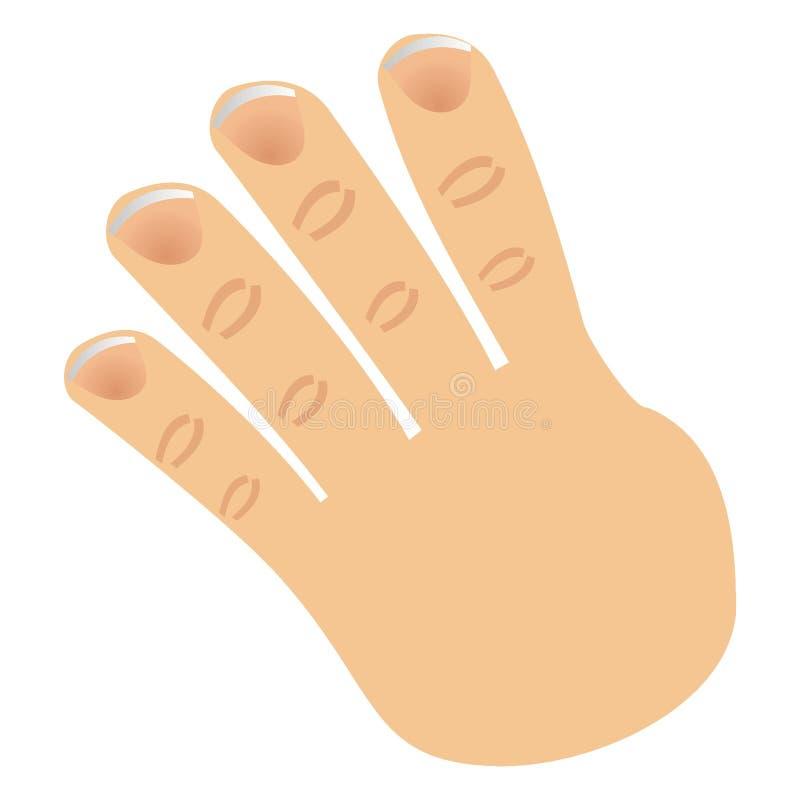 Le numéro quatre a effectué avec des doigts illustration de vecteur