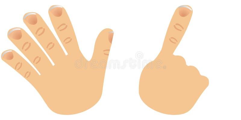 Le numéro six a effectué avec des doigts illustration de vecteur