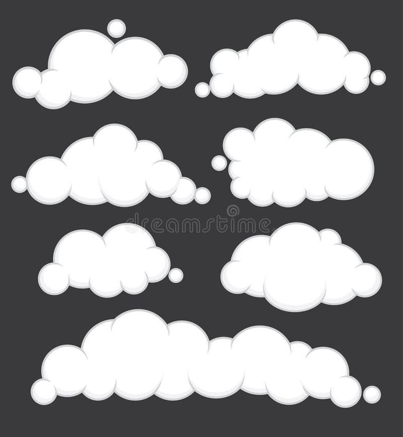 Le nuvole vector l'insieme illustrazione di stock