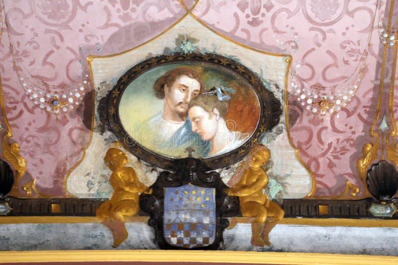 Le Nymphaeum de la villa Visconti Borromeo Arese Litta - Lainate Italie photos libres de droits