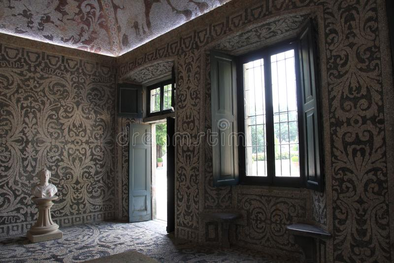 Le Nymphaeum de la villa Visconti Borromeo Arese Litta - Lainate Italie images stock