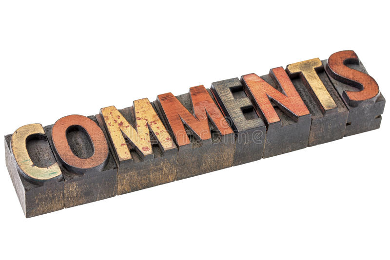 Le osservazioni esprimono nel tipo di legno dello scritto tipografico fotografie stock libere da diritti