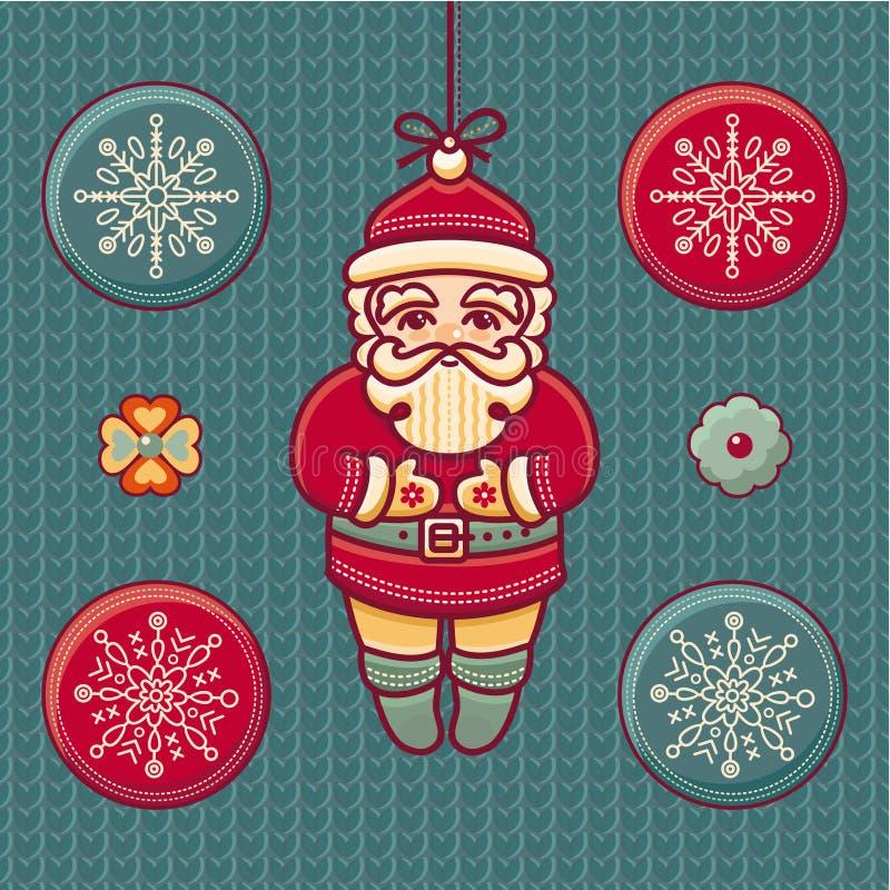 Le père noël _2 Ensemble de jouets de Noël de couleur illustration libre de droits