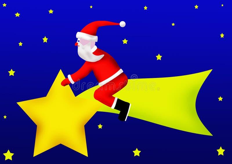 Le père noël est l'étoile de Bethlehem photo libre de droits