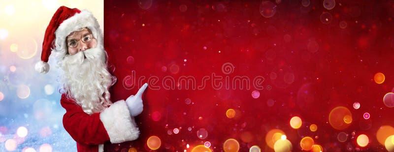 Le Père Noël pointe le doigt image libre de droits