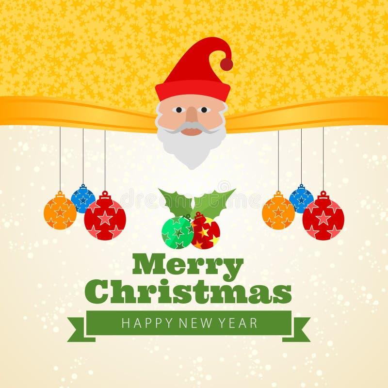 Le père noël souhaitant le Joyeux Noël et la nouvelle année illustration stock