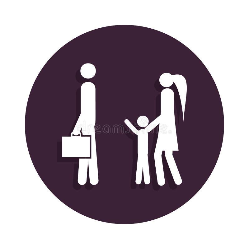 le père va travailler l'icône dans le style d'insigne Un de l'icône de collection de mariage peut être employé pour UI, UX illustration stock
