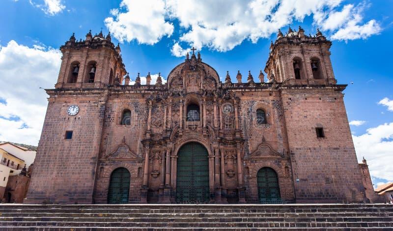 Le Pérou, basilique de cathédrale de notre Madame de l'hypothèse, Cuzco images libres de droits