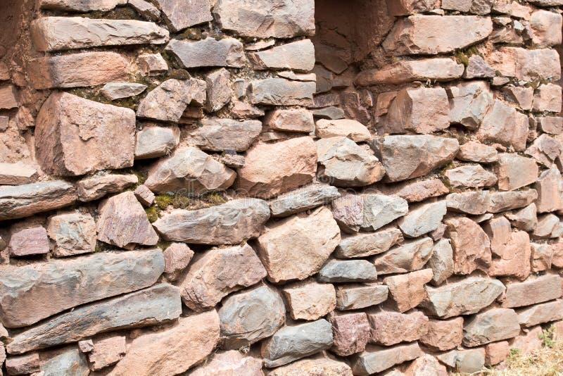 Le Pérou, Pisac (Pisaq) - ruines d'Inca dans la vallée sacrée dans les Andes péruviens images libres de droits